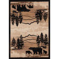 Mountain Shadow Bear Rugs