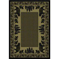 Bear Family on Green Area Rugs