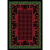 Bear Family on Multi Area Rugs