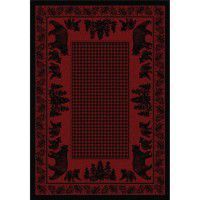 Bear Family on Red Area Rugs