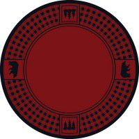Bear Refuge on Red Round Area Rug