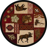 Bear Creek Lodge Round Rug