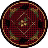 Deep Woods Bear Round Rug