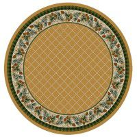 Evergreen in Maize Round Area Rug