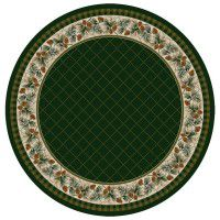 Evergreen in Pine Round Area Rug