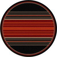 Heart Strong Stripe Round Rug