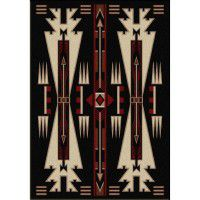 Horse Thieves Black Area Rugs