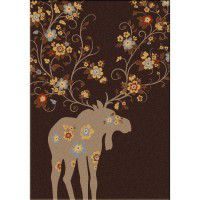 Moose Blossom Area Rugs - Chocolate