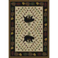 Patchwork Bear Rug - Natural