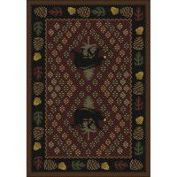 Patchwork Bear Rug - Red