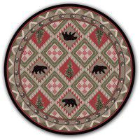 Quilted Forest Round Rug