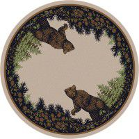 Bear Twins Round Rug