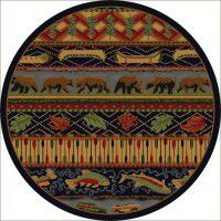 Wilderness Trek Round Rug