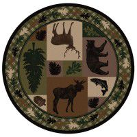 Wildlife Retreat Round Area Rug