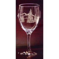Etched Jumbo Wine Goblet - Set of 12
