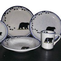 Black Bear and Tracks Lodge Dinnerware