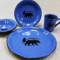 Black Bear Silhouette Dinnerware