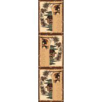 Log Cabin Bear Runner