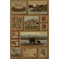 Mountain Wildlife Area Rugs