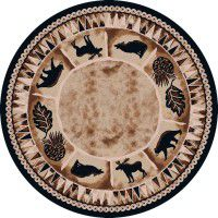 Northern Wildlife Round Rug