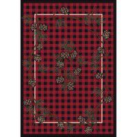 Red Wooded Pines Area Rugs
