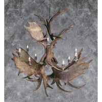 Northern Highlands Moose and Elk Antler Chandelier