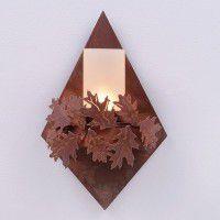Diamond Sconce - Oak Leaf