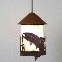 Vista Trout and Cattail Pendant Light