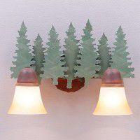 Lakeside Pine Tree Vanity Lights