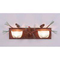 Halogen Double Pine Cone Vanity Light