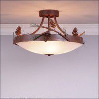 Crestline Pine Cone Semi-Flush Ceiling Light