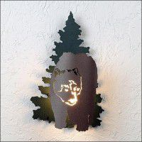 Bear in the Woods Sconce