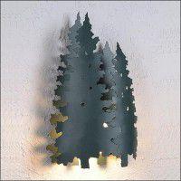 Twin Pine Tree Sconce