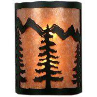 Cascade Pine Tree Half Round Sconce