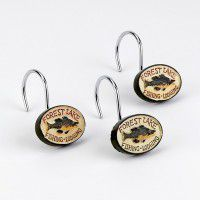 Rather Be Fishing Shower Curtain Hooks