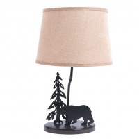 "18"" Burlap Shade Bear Lamp-CLEARANCE"