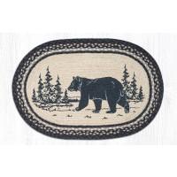 Bear Silhouette Jute Rug 20 x 30