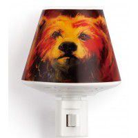 Bear with Tracks Nightlight with a Well for Essential Oils