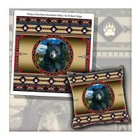 Bear Sherpa Fleece Throw and Pillow