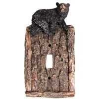 Black Bear on Bark Switch Plates