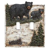 Black Bear in Birch Forest Switch Plates