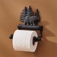 Cast Black Bear Toilet Paper Holder