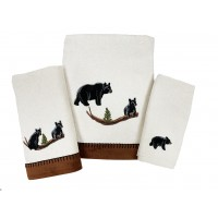 Black Bear Lodge Embroidered Towels