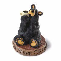 Coffee Bear Figurine