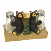 Bear Salt & Pepper with Toothpick Holder