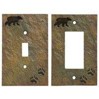 Bear & Tracks Switch Plates