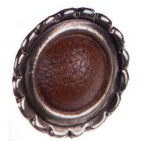 Metal Faux Leather Knob-CLEARANCE