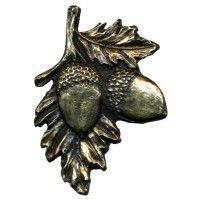 Antique Brass Acorn on Branch Knob