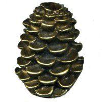 Antique Brass Pinecone Knob