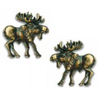 Antique Brass Walking Moose Cabinet Hardware